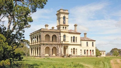 Country House Rescue envisaged for Mintaro, the sold $3 million 1882 Monegeetta, Sunbury district mansion